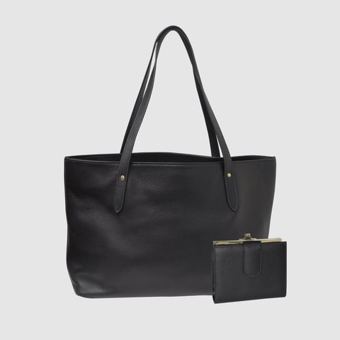 CHELSEA LEATHER  - TOTE AND WALLET SET