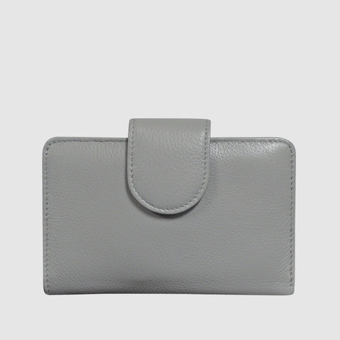 Chelsea Leather - Medium Tab Wallet with RFID