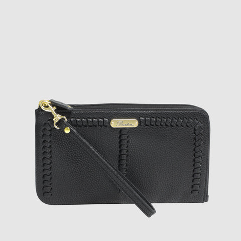 Whip Stitch -  L Zip Wristlet with RFID