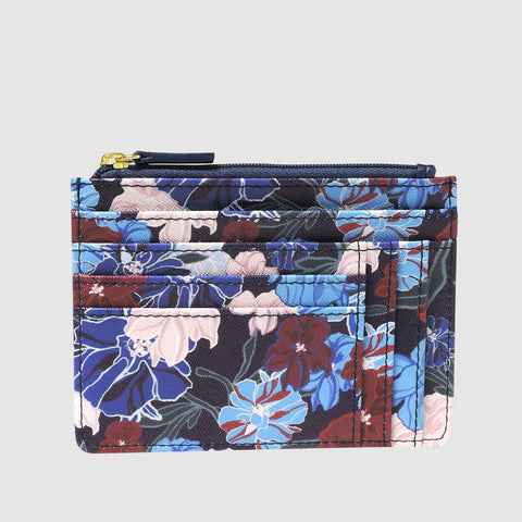 SEAMLESS FLORAL - SLOT COIN POUCH with RFID