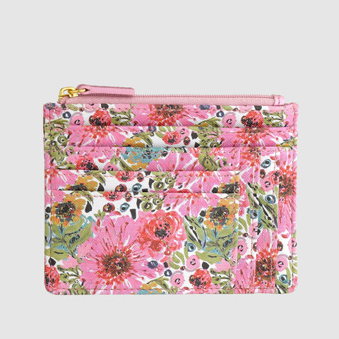 SPRING IN BLOOM - Slot Coin Pouch with RFID