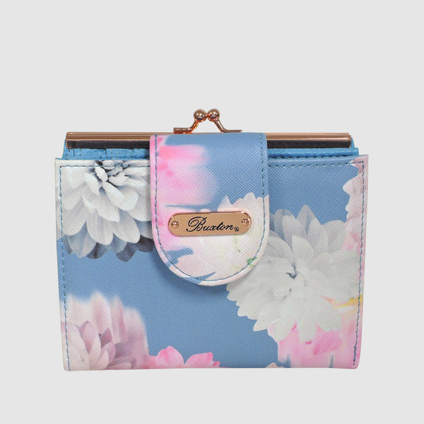 PHOTO FLORAL LEXINGTON WALLET with RFID