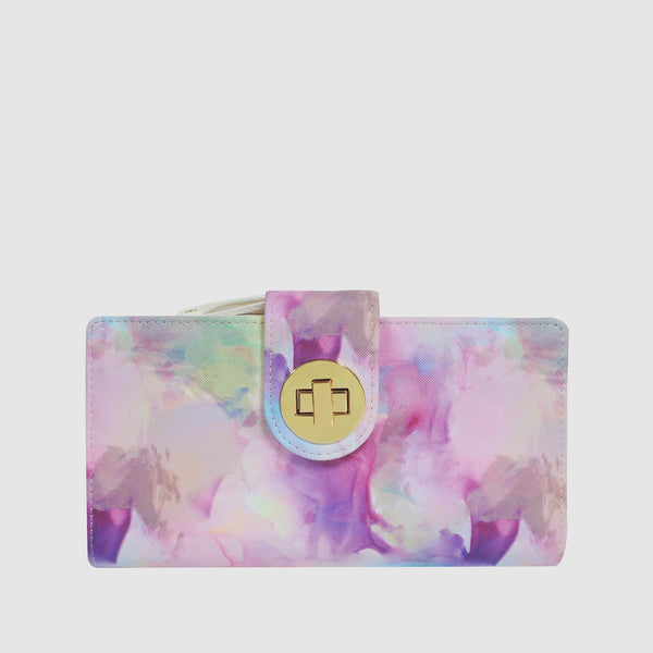 WATERCOLOR TIE DIE Superwallet with RFID