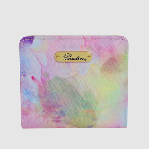 WATERCOLOR TIE DYE - Medium Snap Billfold with RFID