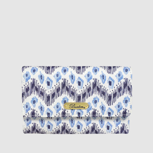 IKAT WAVE LASER CUT MID SIZE TRIFOLD with RFID