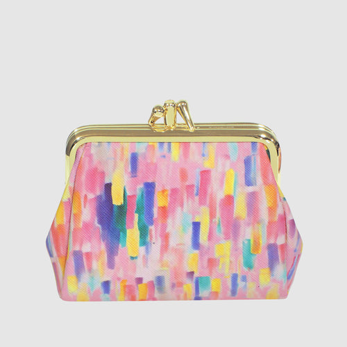 ABSTRACT TRIPLE FRAME COIN PURSE
