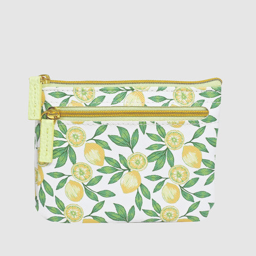 LOVELY LEMON ID, COIN CARD CASE with RFID