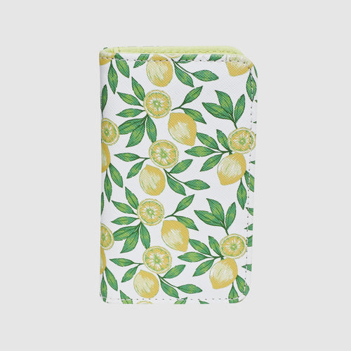 LOVELY LEMON SNAP CARD CASE with RFID