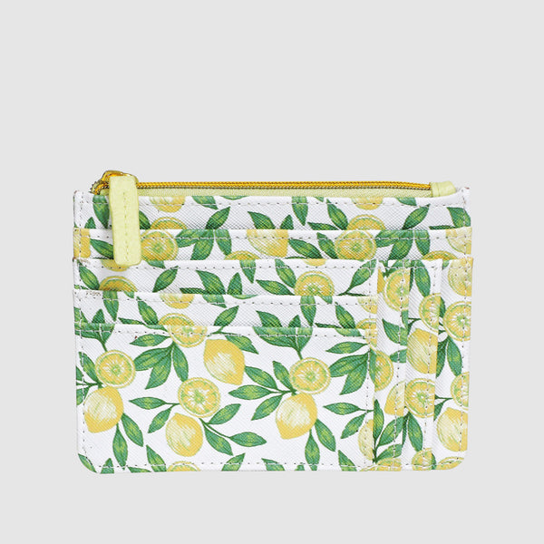 LOVELY LEMON SLOT COIN, CARD CASE with RFID