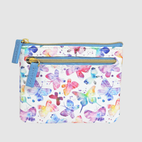SOFT BUTTERFLY ID, COIN CARD CASE with RFID