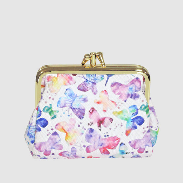 SOFT BUTTERFLY TRIPLE FRAME COIN PURSE