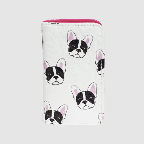 FRENCH BULLDOG SNAP CARD CASE with RFID