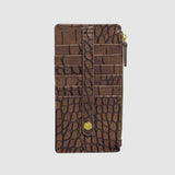 BURNISHED CROCO THIN CARD HOLDER