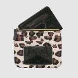 LEOPARD LARGE ID COIN/CARD CASE with RFID