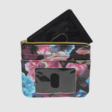 MIDNIGHT ROSES ID, COIN CARD CASE with RFID