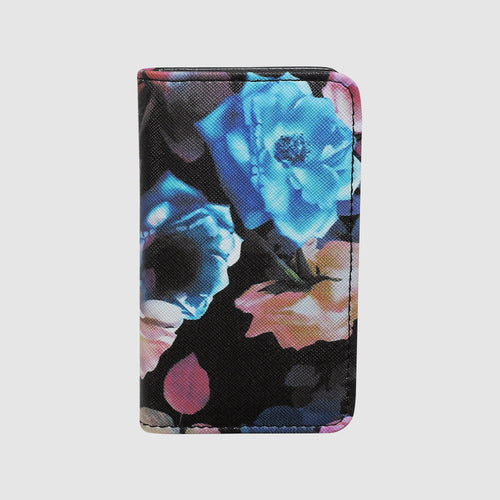 MIDNIGHT ROSES SNAP CARD CASE with RFID