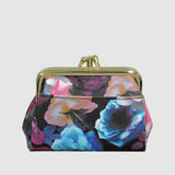 MIDNIGHT ROSES TRIPLE FRAME COIN PURSE