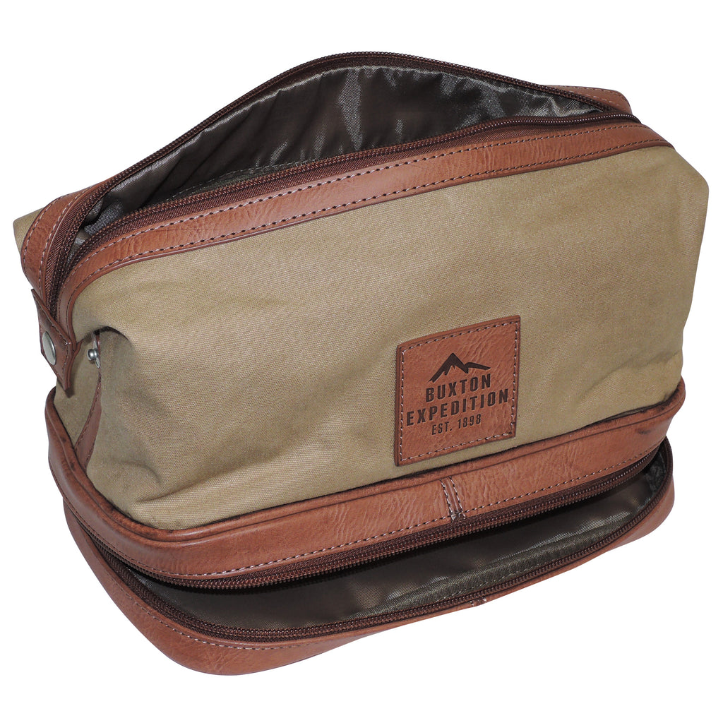 Buxton - Expedition Collection - Bottom Zip Travel Kit