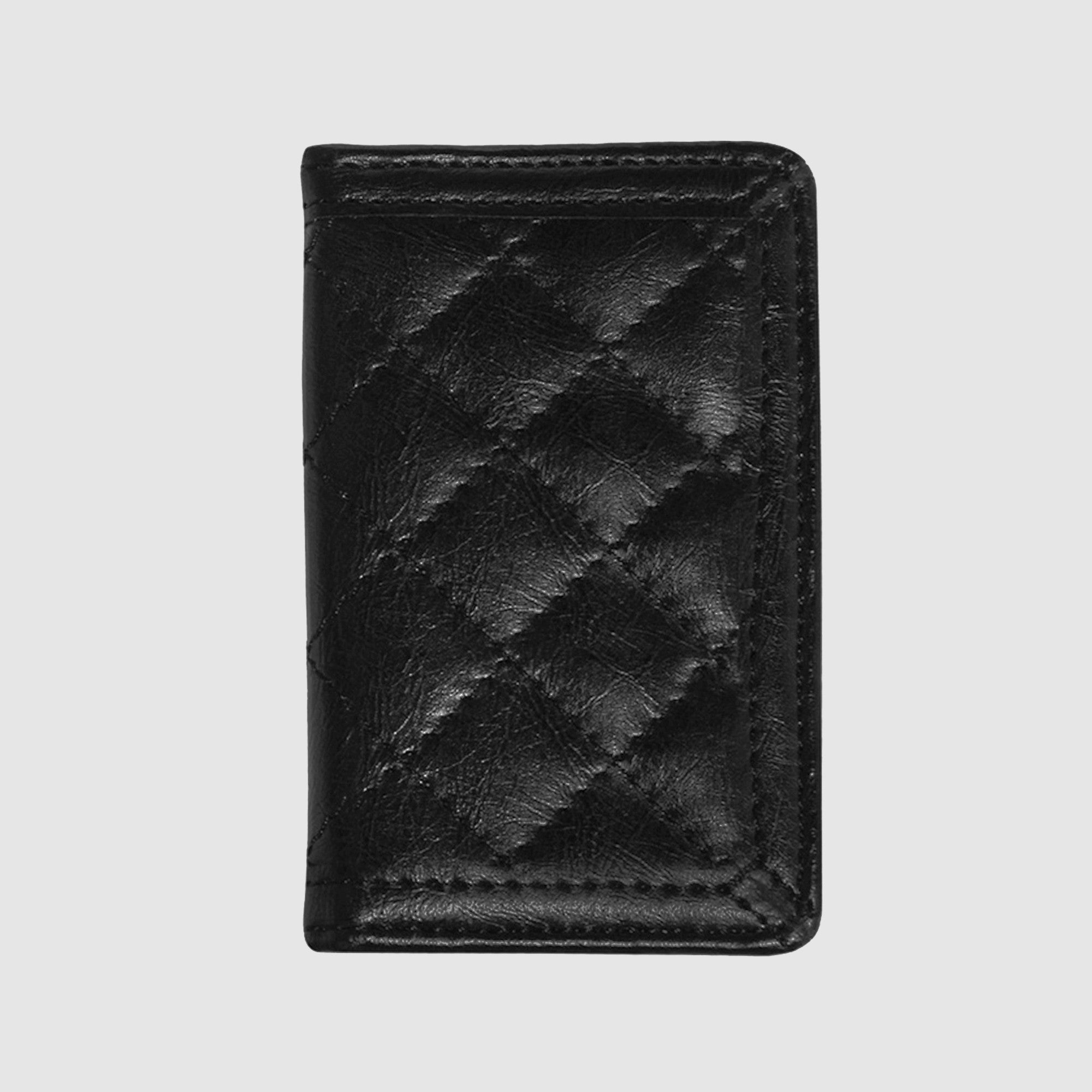 Quilted Business Card Case - Black