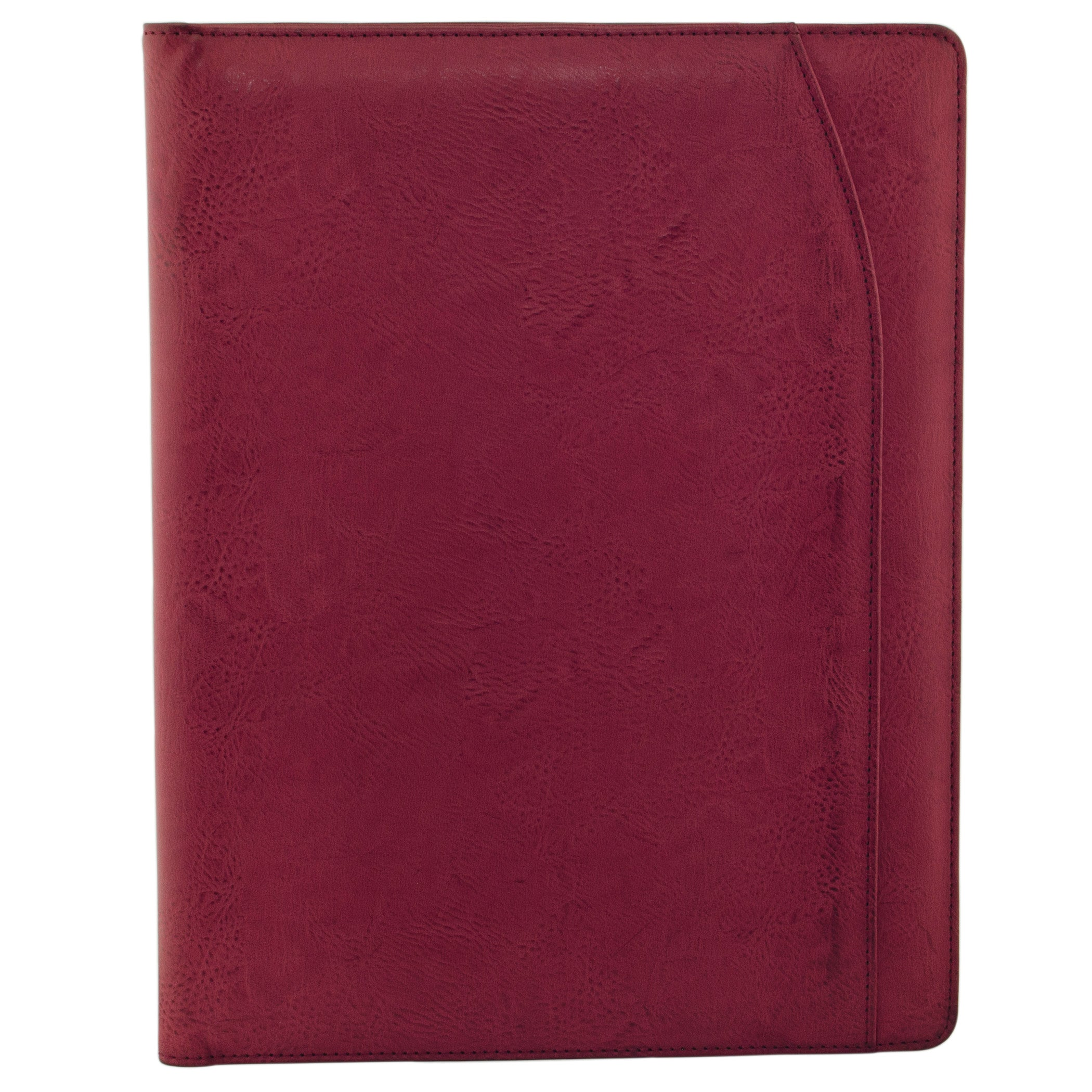 "Pebble Grain Faux Leather Body. Synthetic Lining. 7 Interior Pockets. 1 ID Window. Full Length Slip Pocket. Slip Pocket for Writing Pad (writing pad included). Style: ST625005. Dimensions: 9.25 x 0.5"" x 12.13"". Weight: 1.3lbs."""