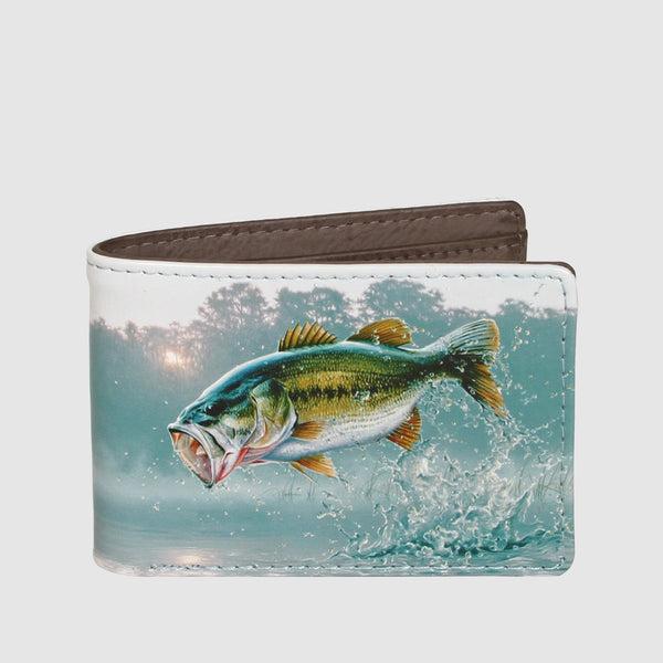 Buxton Wildlife Front Pocket Slimfold Bass