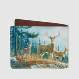 Buxton Wildlife Front Pocket Slimfold Deer