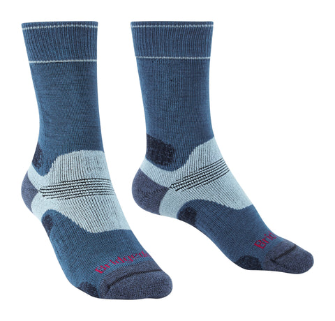 Bridgedale Women's Hike Midweight Merino Performance Socks Blue Sky