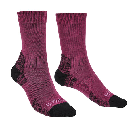 Bridgedale Women's Hike Lightweight Merino Performance Socks Berry