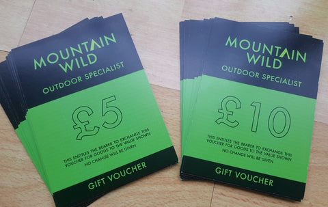 Mountain Wild Gift Vouchers £5 and £10