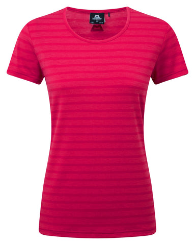 Mountain Equipment Women's Stripe Tee Virtual Pink Stripe