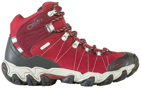 Oboz Women's Bridger Mid BDry WIDE FIT Rio Red