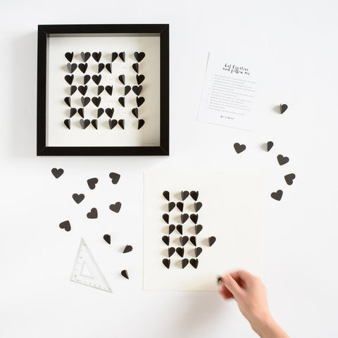 Personalised Hearts Picture - DIY Kit