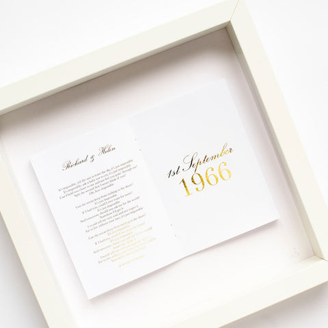 Gold Anniversary Personalised Frame