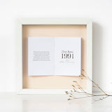 Silver Anniversary Personalised Framed Book
