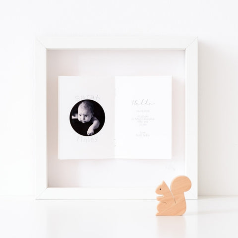 Personalised Newborn Photo Framed Picture