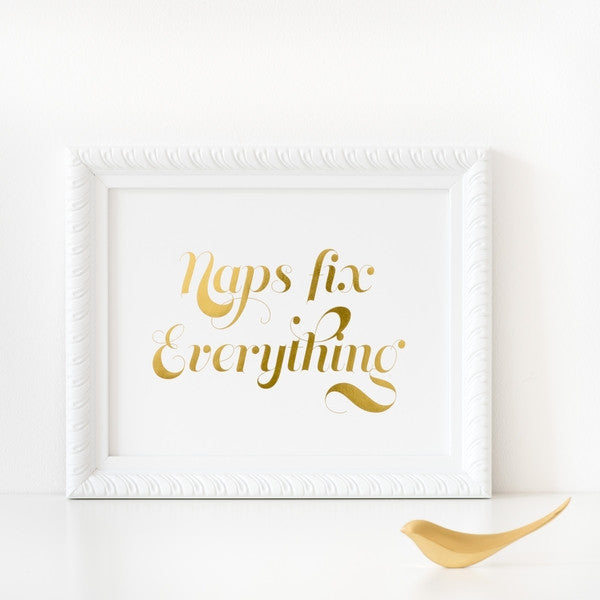 Naps Fix Everything' Poster - SECONDS