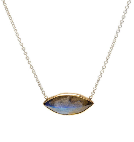 MARQUIS LABRADORITE NECKLACE