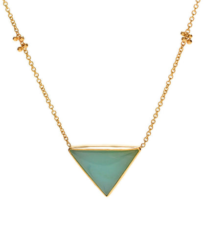 PERUVIAN OPAL TRIANGLE NECKLACE