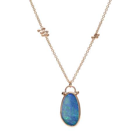 BLUE OPAL NECKLACE