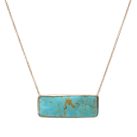 OBLONG TURQUOISE NECKLACE