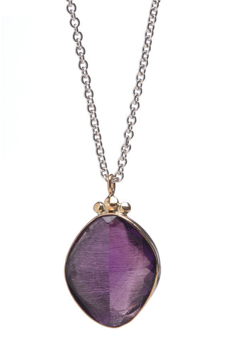 ROSECUT AMETHYST NECKLACE