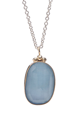 ROSECUT AQUAMARINE NECKLACE