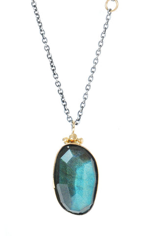 ROSECUT LABRADORITE NECKLACE