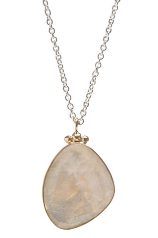 ROSECUT MOONSTONE NECKLACE