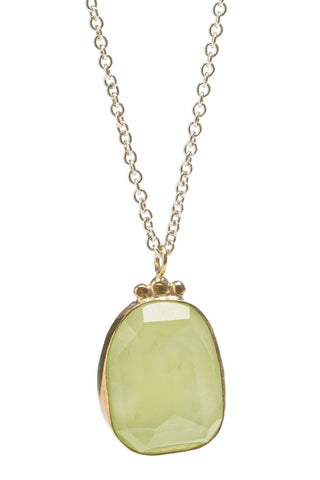 ROSECUT PREHNITE NECKLACE
