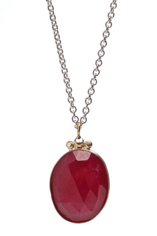 ROSECUT RUBY NECKLACE
