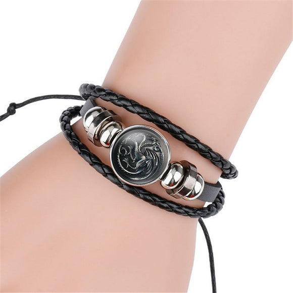 Game of Thrones Braided Leather Bracelet - Trighter