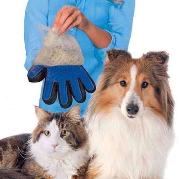 Magical Pet Touch Grooming Gloves - Trighter