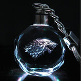 Game of Thrones Houses Sigil Laser Engraved Glass Keychain - Trighter