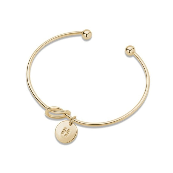 Gold Silver Knot Heart Bracelet - Trighter